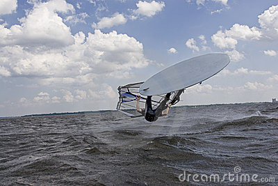 Windsurfer flipping