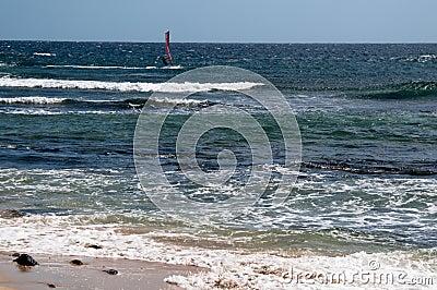 Windsurfer on Lanzarote
