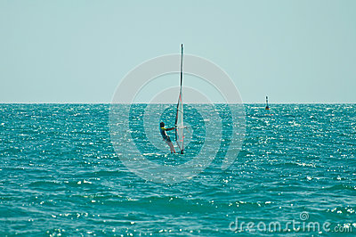 Windsurfer ride the wind Editorial Stock Image