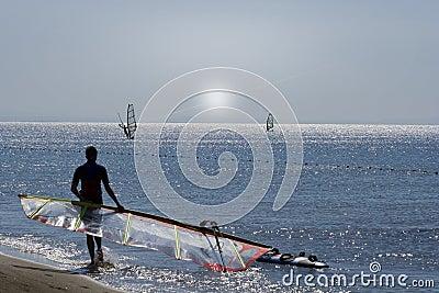 Windsurfer and SUN