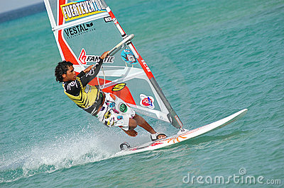 Windsurfing Editorial Stock Photo