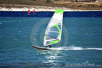 Windsurfing in Alacati,