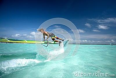 Windsurfing on Bonaire 2.