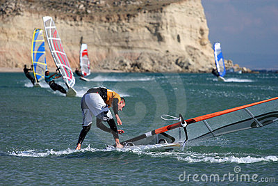 Windsurfing-fall