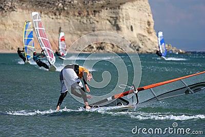Windsurfing-fall