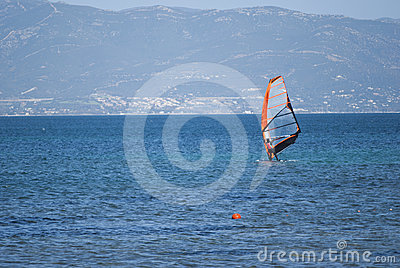 Windsurfing in Sardinige