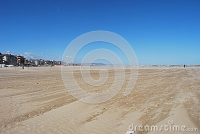The windswept beach of Pescara