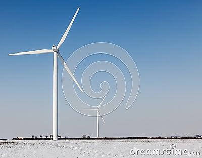 Windturbines in winter