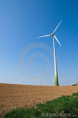 Windwheel and a barren field