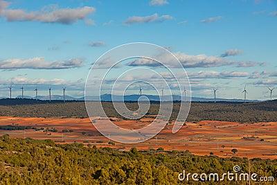 Windy day at Castilla-La Mancha, Spain