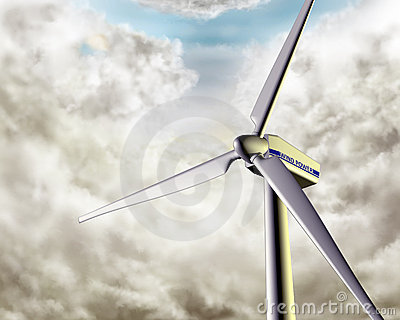 Windy wind turbine