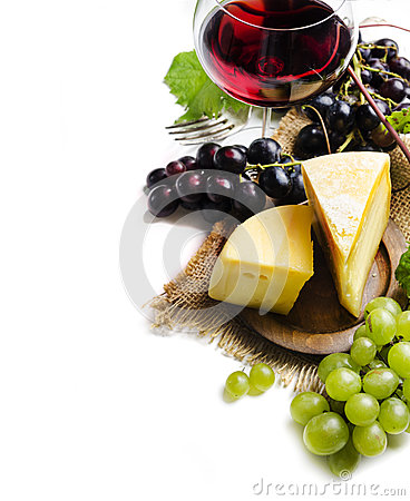 Free Wine And Cheese Royalty Free Stock Photo - 44575815