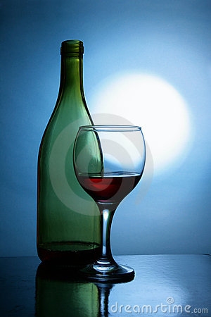 Free Wine And Moon Royalty Free Stock Photography - 4116077