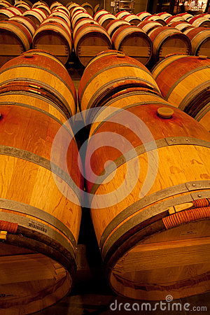 Wine Barrel in Cellar