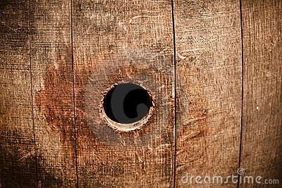 Wine Barrel Knot Peep Hole