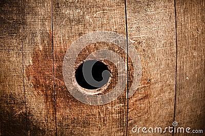 Wine Barrel Knot Peep Hole