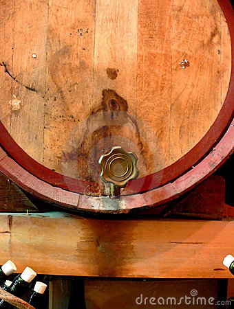 Wine Barrel and Tap