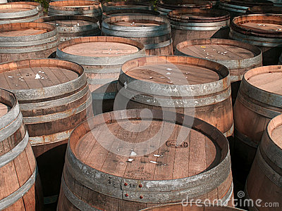 Wine  Barrels Editorial Image