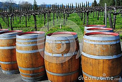 Wine Barrels Outside Napa