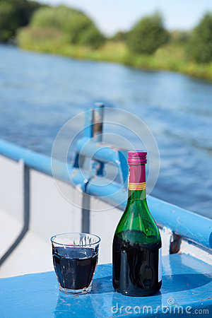 Wine on the boat
