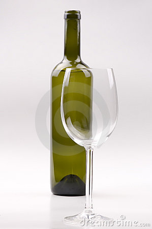 Free Wine Bottle And Glass Stock Photo - 16726910