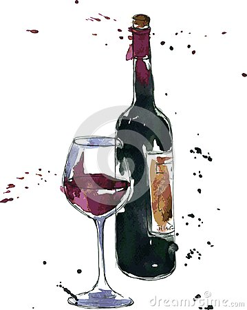 Free Wine Bottle And Glass Stock Images - 47007084
