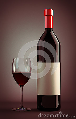 Free Wine Bottle And Glass Royalty Free Stock Photos - 93826418