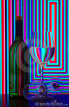 Free Wine Bottle And Glasses Royalty Free Stock Photos - 16279438