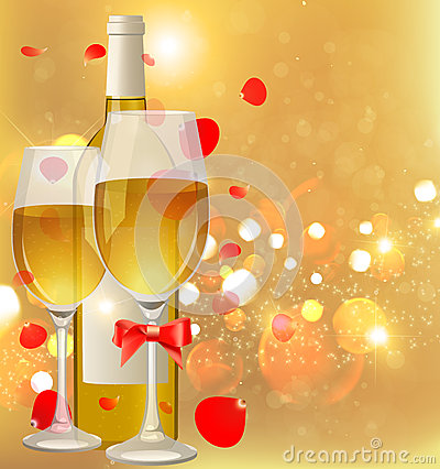 Free Wine Bottle And Glasses Stock Photos - 45798813