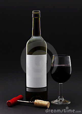 Free Wine Bottle And Wine In A Glass Stock Photo - 21893830