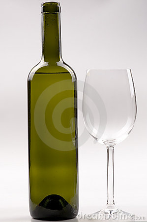 Free Wine Bottle And Wineglass Stock Photos - 16726903