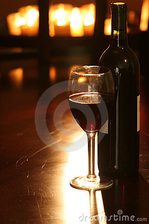 Wine & Bottle with candles