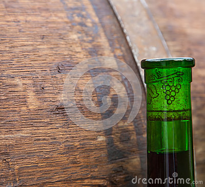 Wine Bottle and Cask