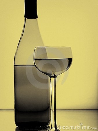 Free Wine Bottle & Glass Abstract Stock Photo - 11491290
