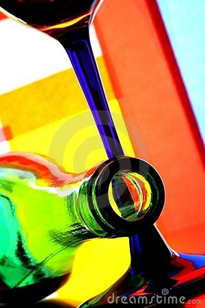 Free Wine Bottle & Glass Abstract Royalty Free Stock Photos - 4982128