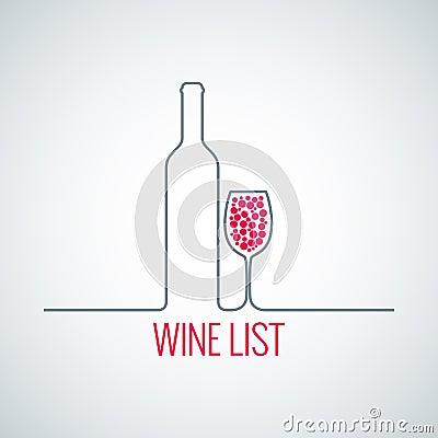 Free Wine Bottle Glass List Menu Background Royalty Free Stock Photography - 41456187