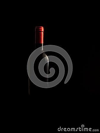 Wine bottle low-key