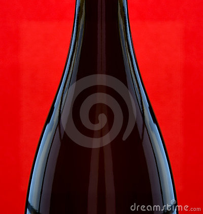 Wine Bottle on Red