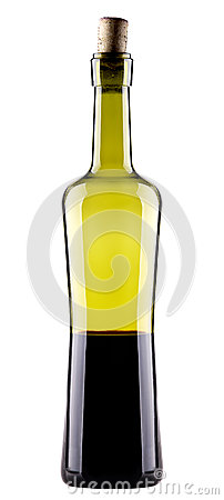 Wine Bottle on a white