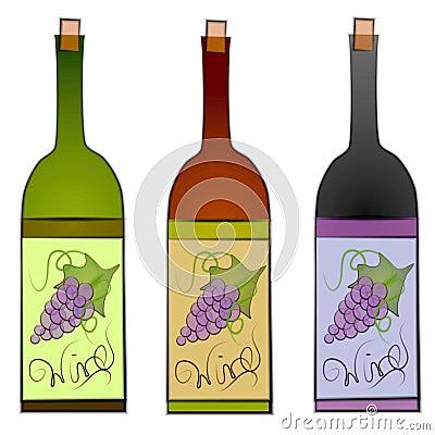 Wine Bottles Clip Art