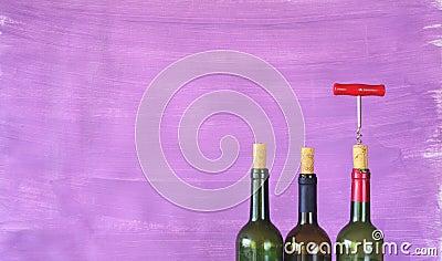 Wine bottles,