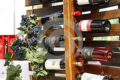 Wine bottles displayed for sale Editorial Photography