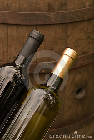 Wine bottles in the winery