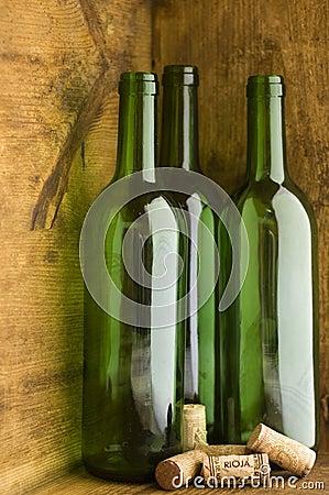 Wine Bottles In Wooden Crate