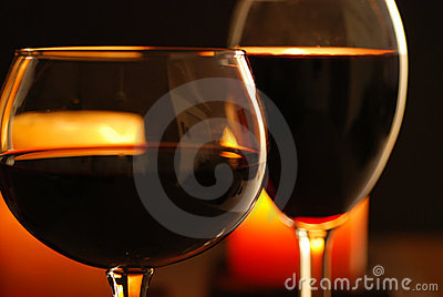 Wine And Candles #2 Royalty Free Stock Photography - Image: 2149507