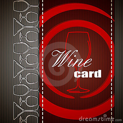 Wine card design