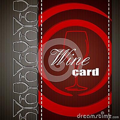 Wine card design