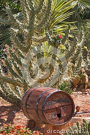 Wine cask.