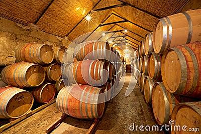 Wine Cellar Editorial Stock Photo