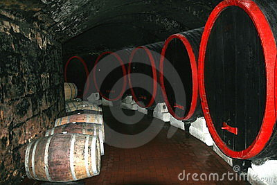 In a wine-cellar.